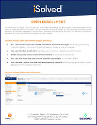 iSolved Open Enrollment Network Collateral Cover