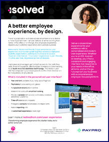 isolved UI Experience cover